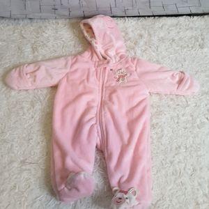 3/$30 Carter's Just one You pink fleece pram sz NB